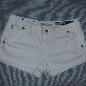 Miss Me white denim shorts